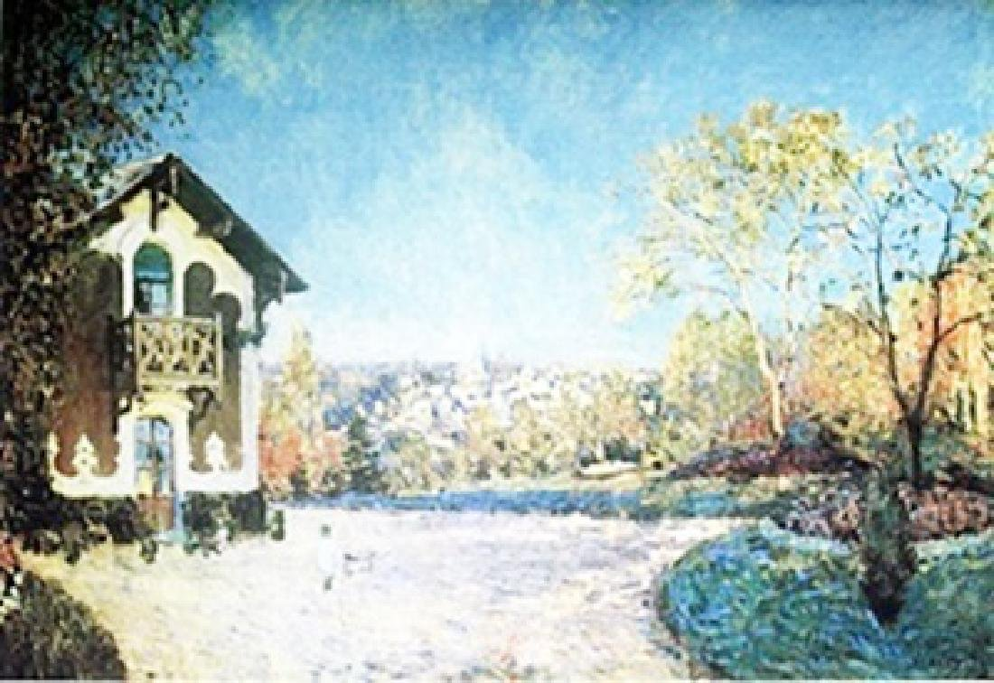Lithograph - View of Marley-Le-Roi - Alfred Sisley