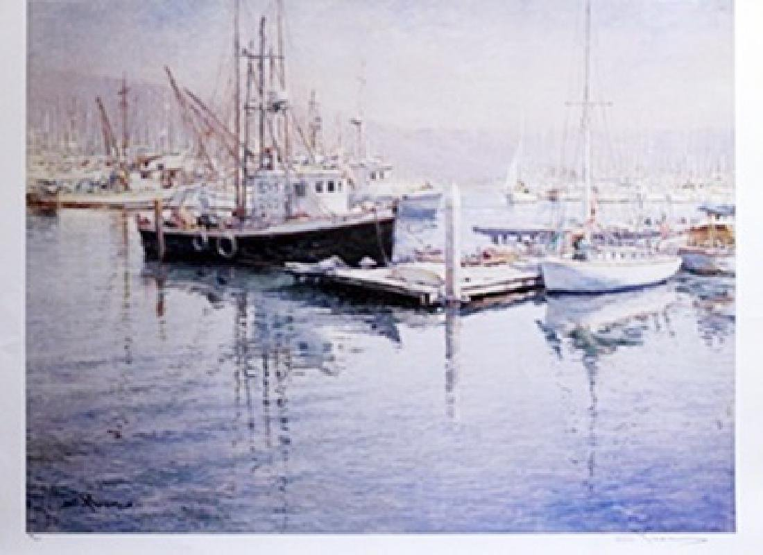 """Lithograph """"From Sea to Shining Sea"""" by Robert Lyn"""