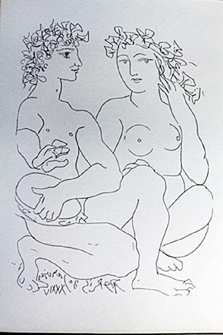"""""""Nude and Tambourine Player""""Lithograph by Pablo Picasso"""