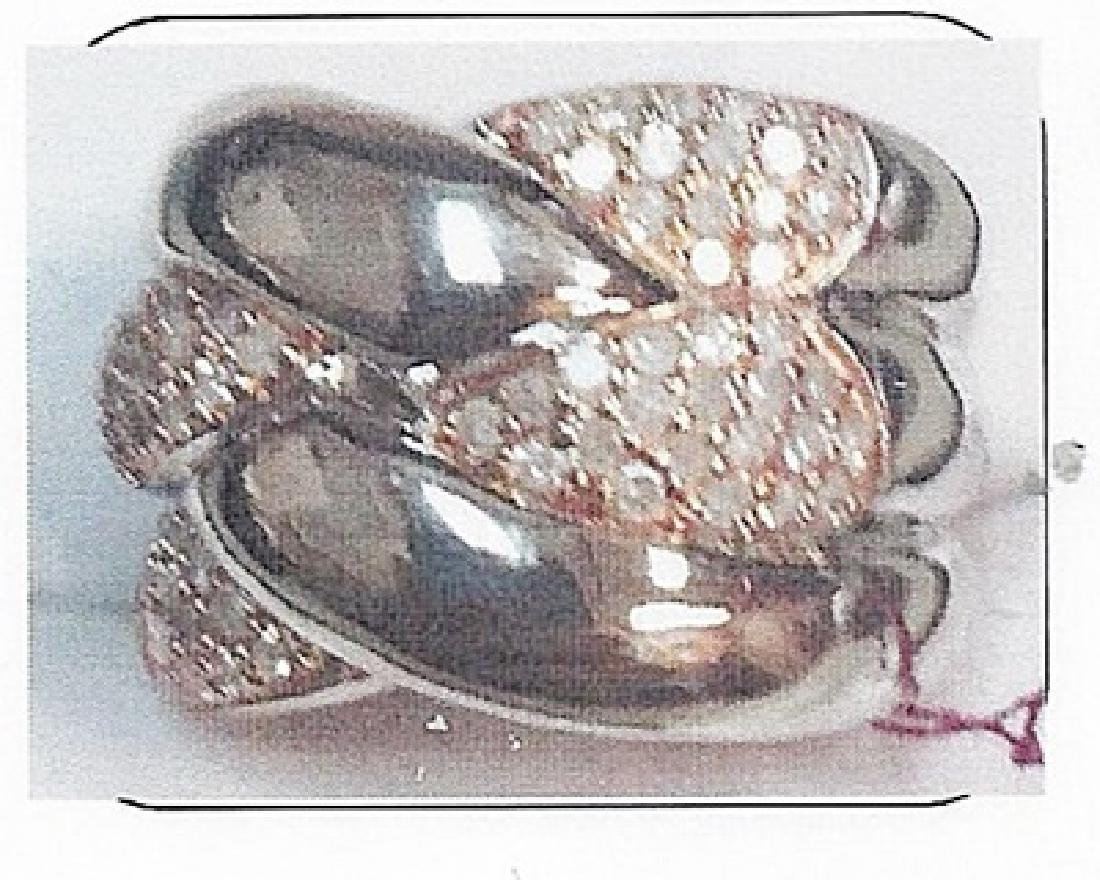 Lady's silver diamond ring