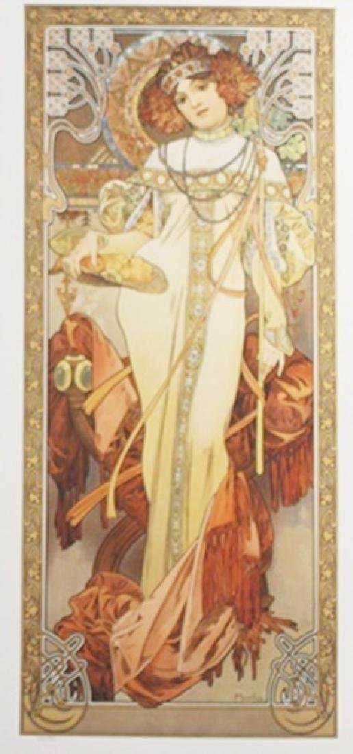 Lithograph Autumn - Alphonse Mucha