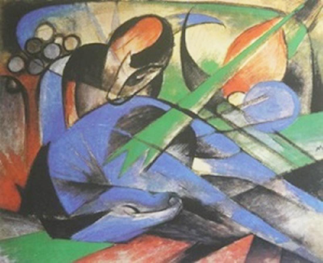 Lithograph Horse Dreaming - Franz Marc
