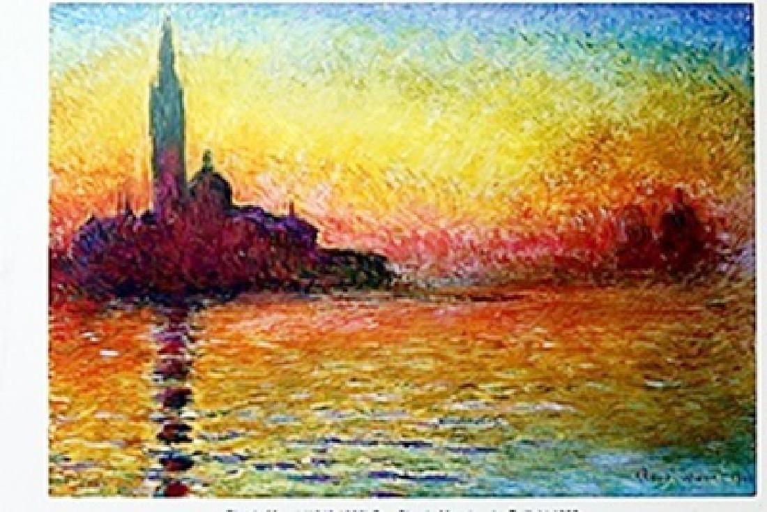 """""""San Giorgio Maggiore by Twilight"""" by Claude Monet"""