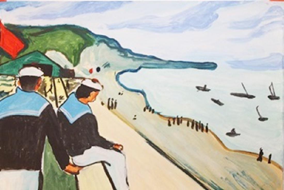 La Plage De Fecamp - Albert Marquet - Watercolor On