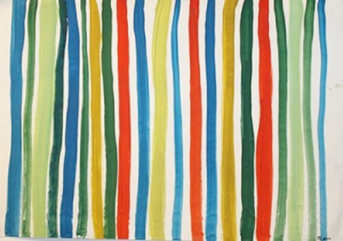Patience - Morris Louis - Oil On Paper