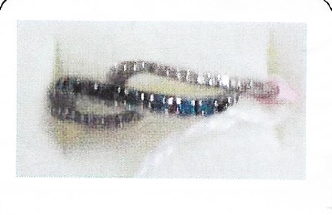 Ladys silver blue diamond ring