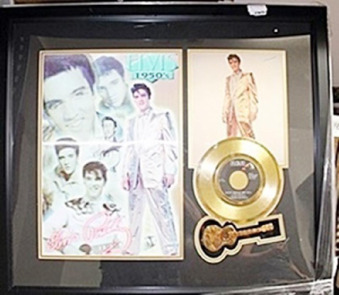 Elvis Presley Photo and Gold Album AR5599