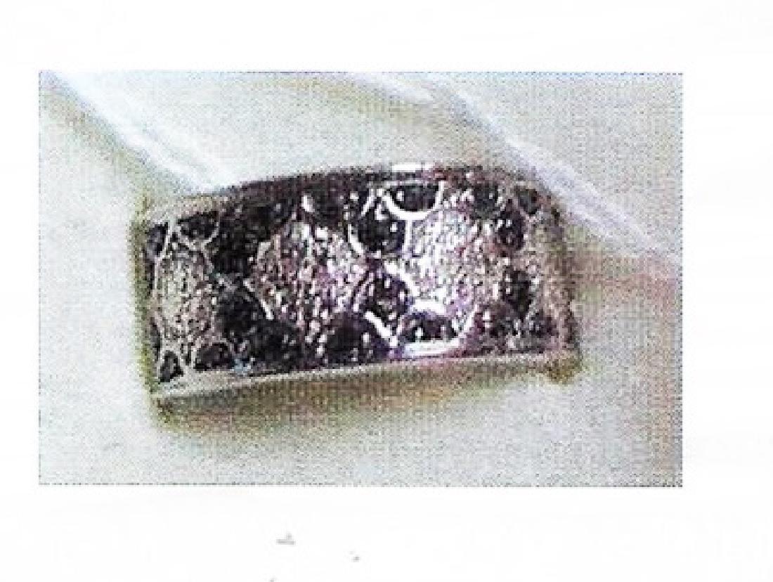 Ladys silver black diamond ring