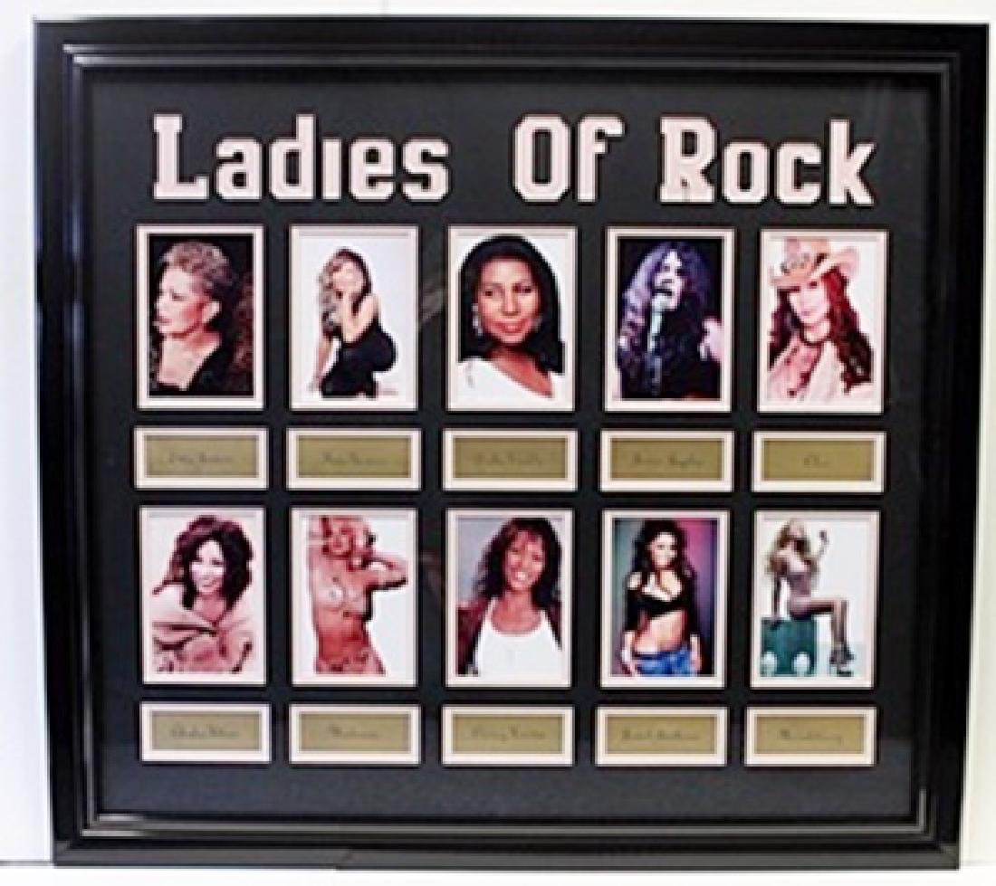 Ladies of Rock - Custom Framed Memorabilia