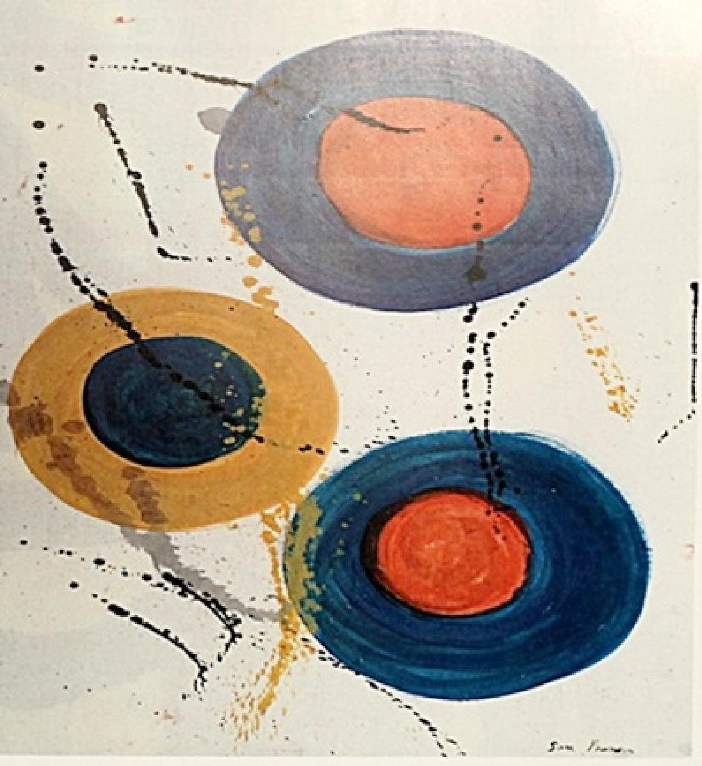 Sam Francis - Oil On Paper