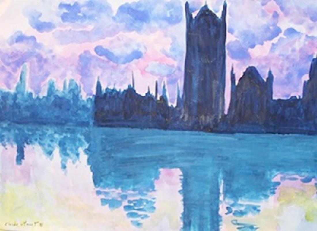 Le Parlement - Claude Monet - Watercolor On Paper