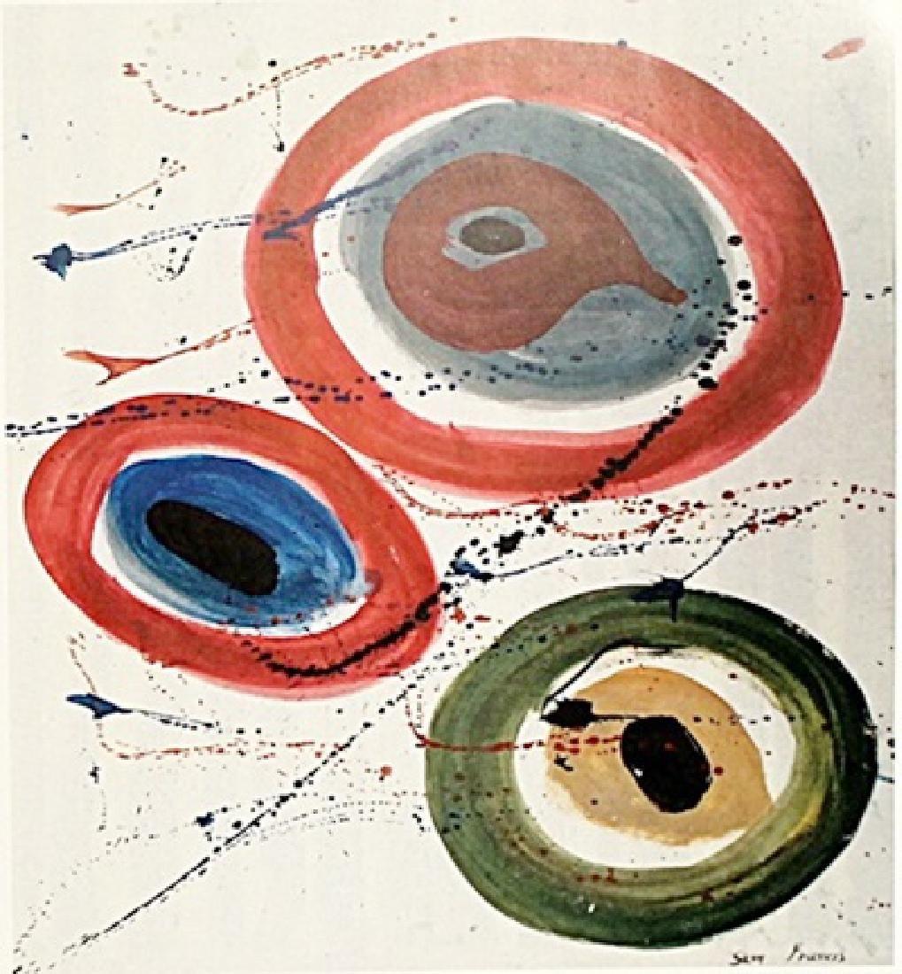 Improvisation - Sam Francis - Oil On Paper