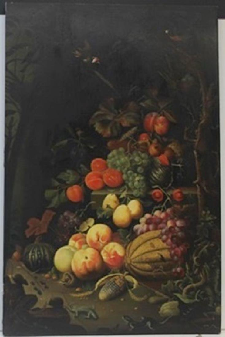 Original Oil on Wood   Abraham Mignon Fecit