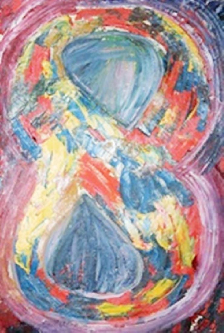 8 - Jasper Johns - Oil On Paper