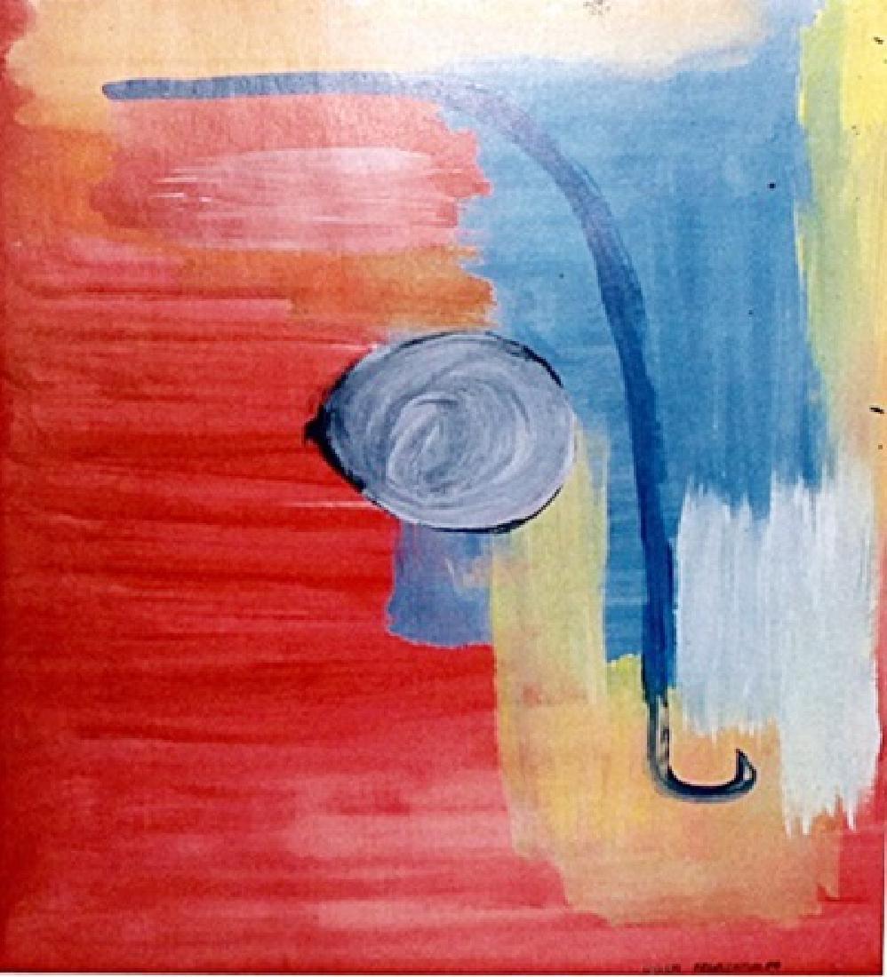 Saturn - Helen Frankenthaler - Oil On Paper