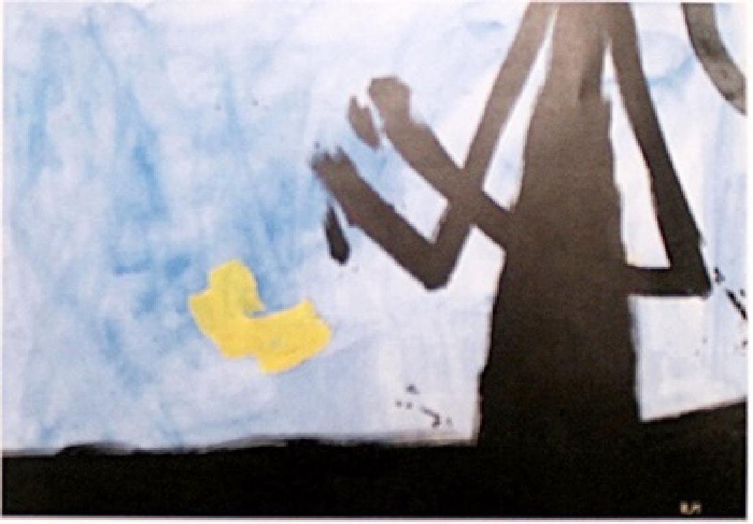 Skyline - Robert Motherwell - Oil On Paper