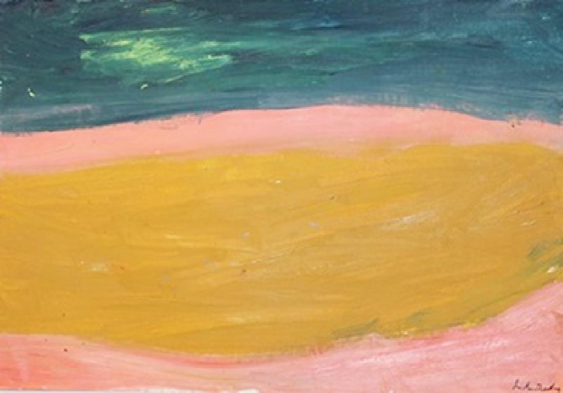 Composition - Helen Frankenthaler - Oil On Paper