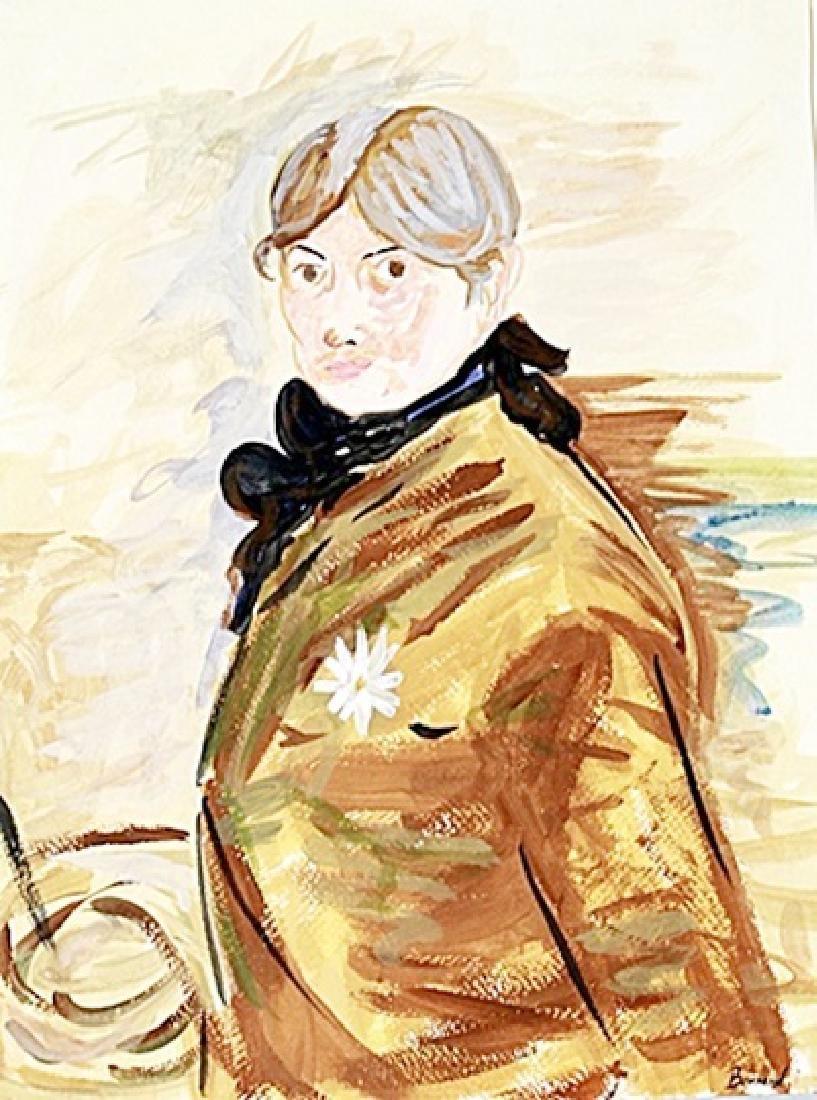 Portrait Of Emilia - Pierre Bonnard - Watercolor