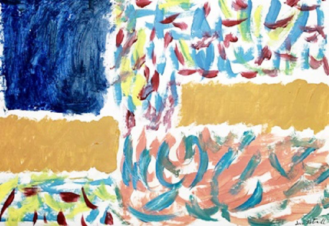 Lady - Joan Mitchell - Oil On Paper