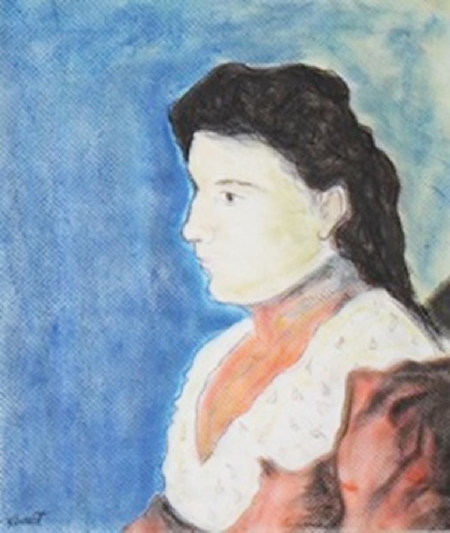 Portrait Of Valerie - Edouard Manet - Pastel On Paper