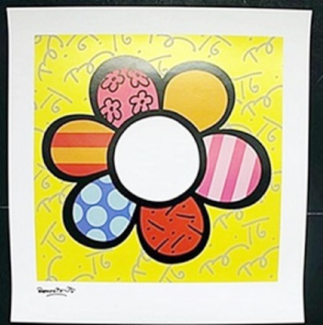 "Print ""Flower Power I""  Romero Britto"