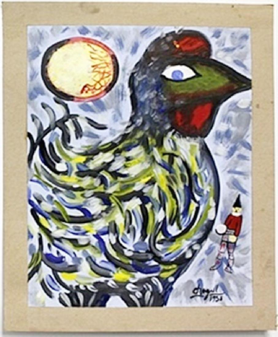 Oil Painting on Paper -  Marc Chagall