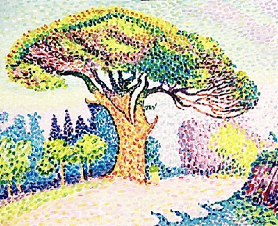The Pine In Saint Tropez - Paul Signac - Watercolor