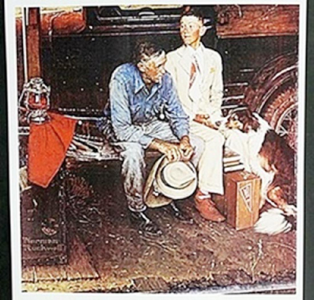 """Lithograph """"Breaking Home Ties""""  Norman Rockwell"""