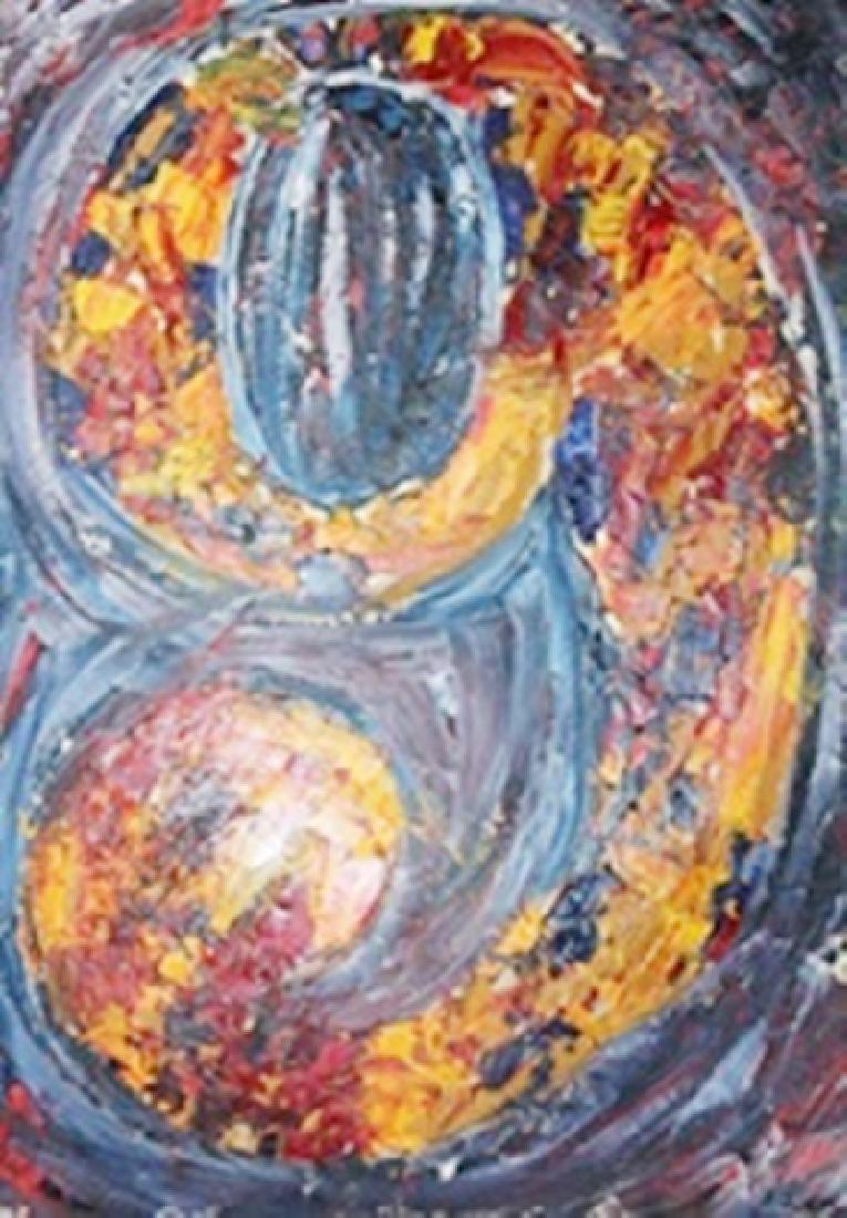 9 - Jasper Johns - Oil On Paper