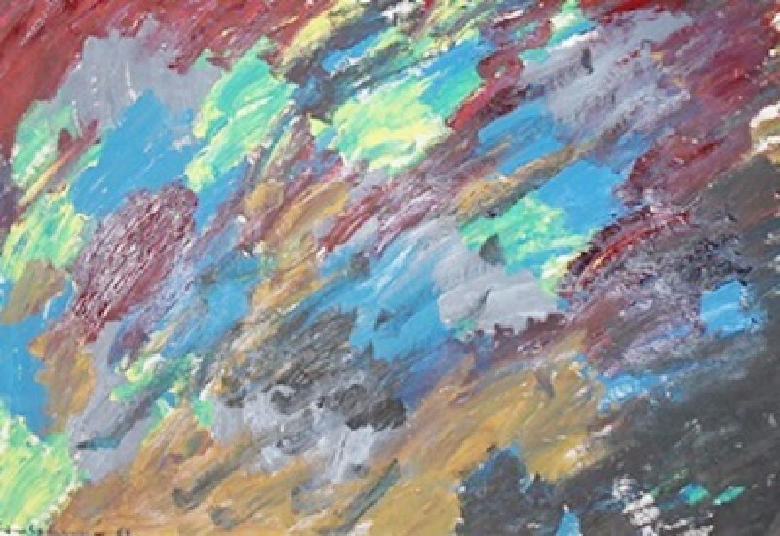 Sky - Hans Hofmann - Oil On Paper