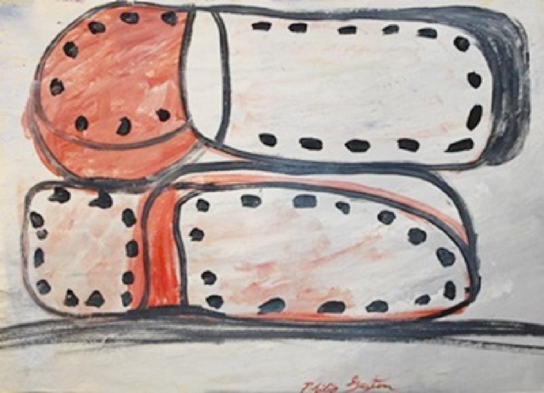 Two Shoes - Philip Guston - Oil On Paper