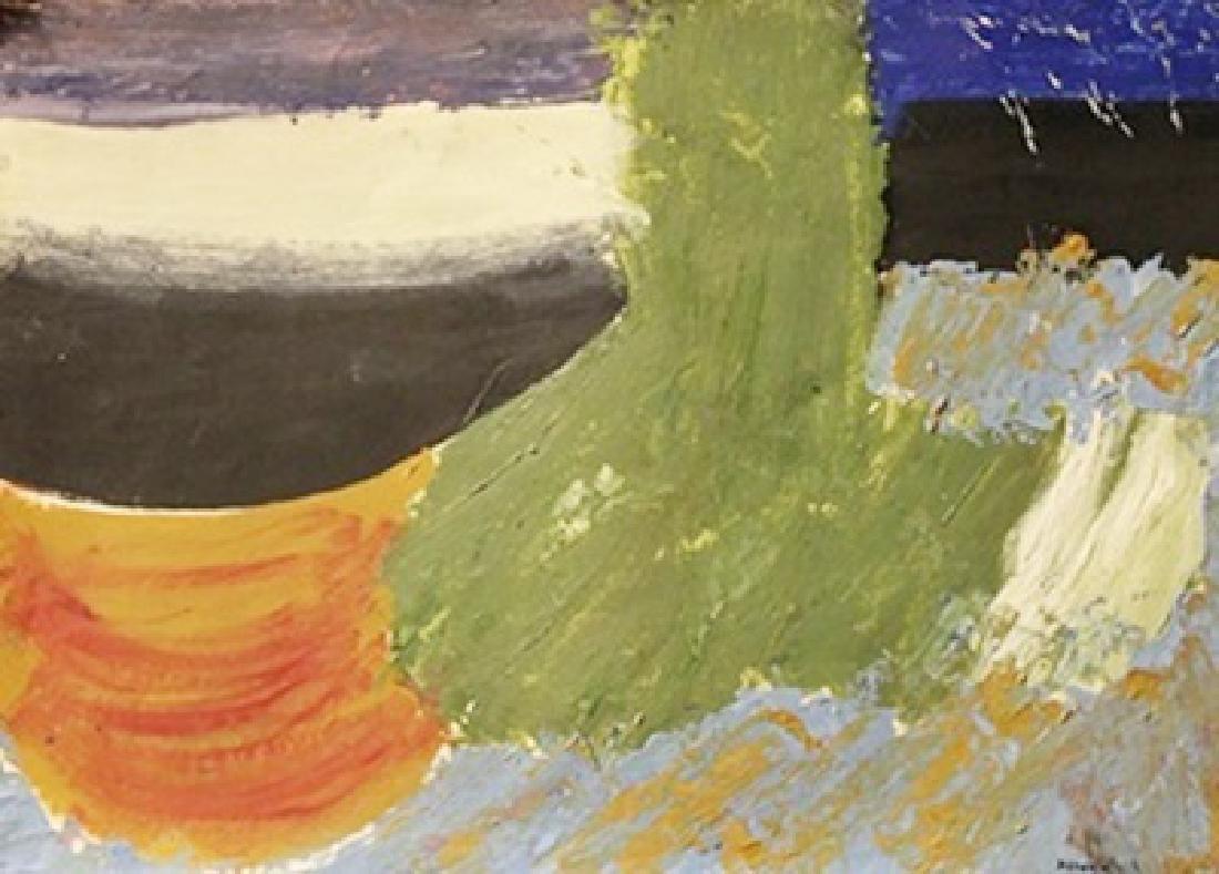 Flag - Howard Hodgkin - Oil On Paper