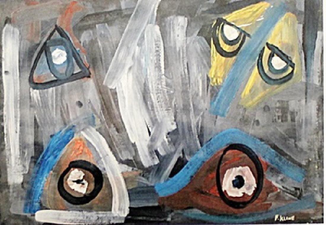 The Mask - Franz Kline - Oil On Paper