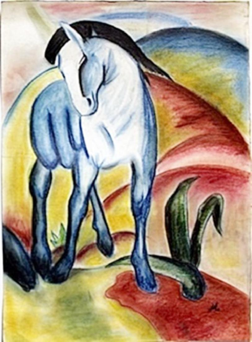 Pastel Drawing on Paper -  Franz Marc