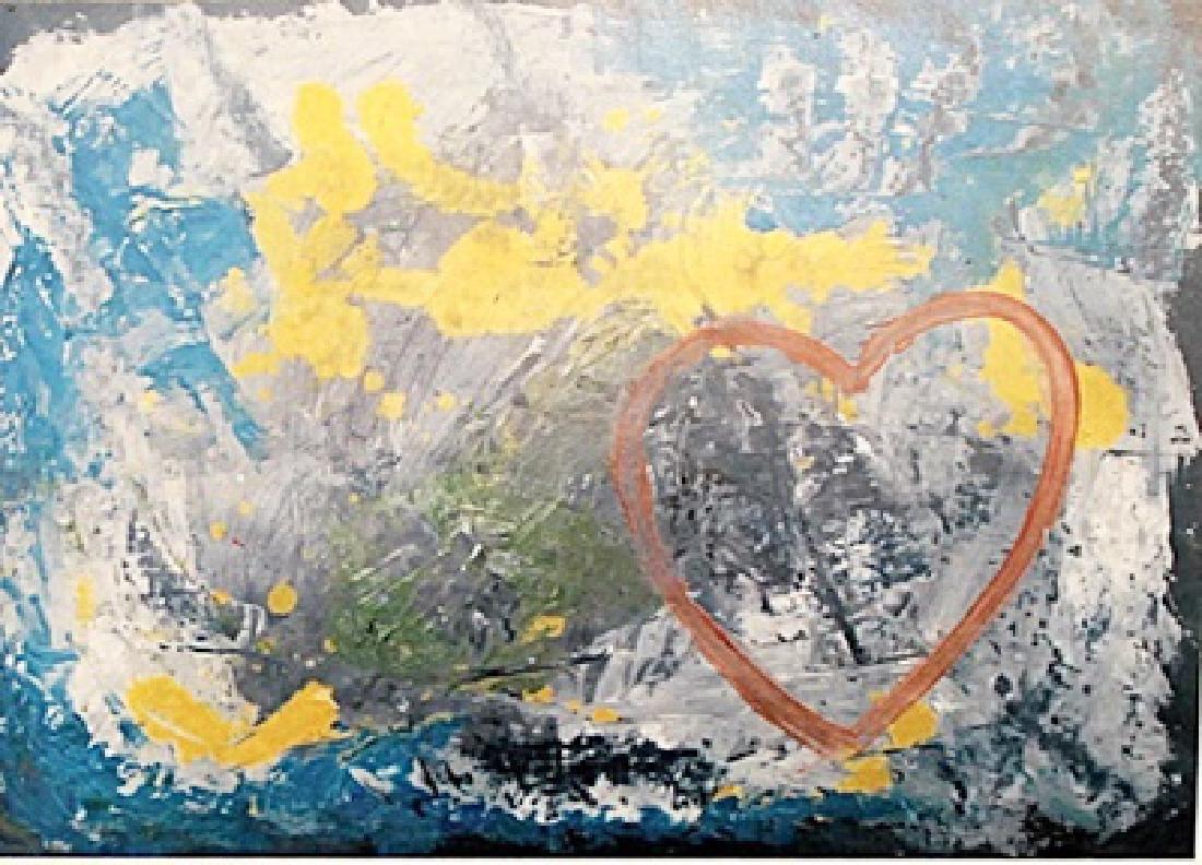 The Love - Jim Dine - Oil on Paper