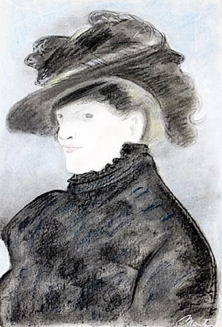 Portrait Of Adele - Edouard Manet - Pastel On Paper