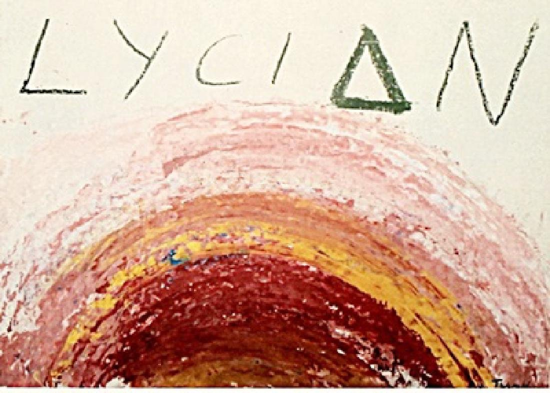 Lycian - CY Twombly - Oil on Paper