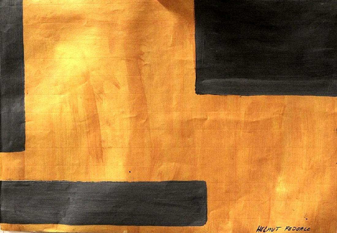 Composition - Helmut Federle - Oil On Paper