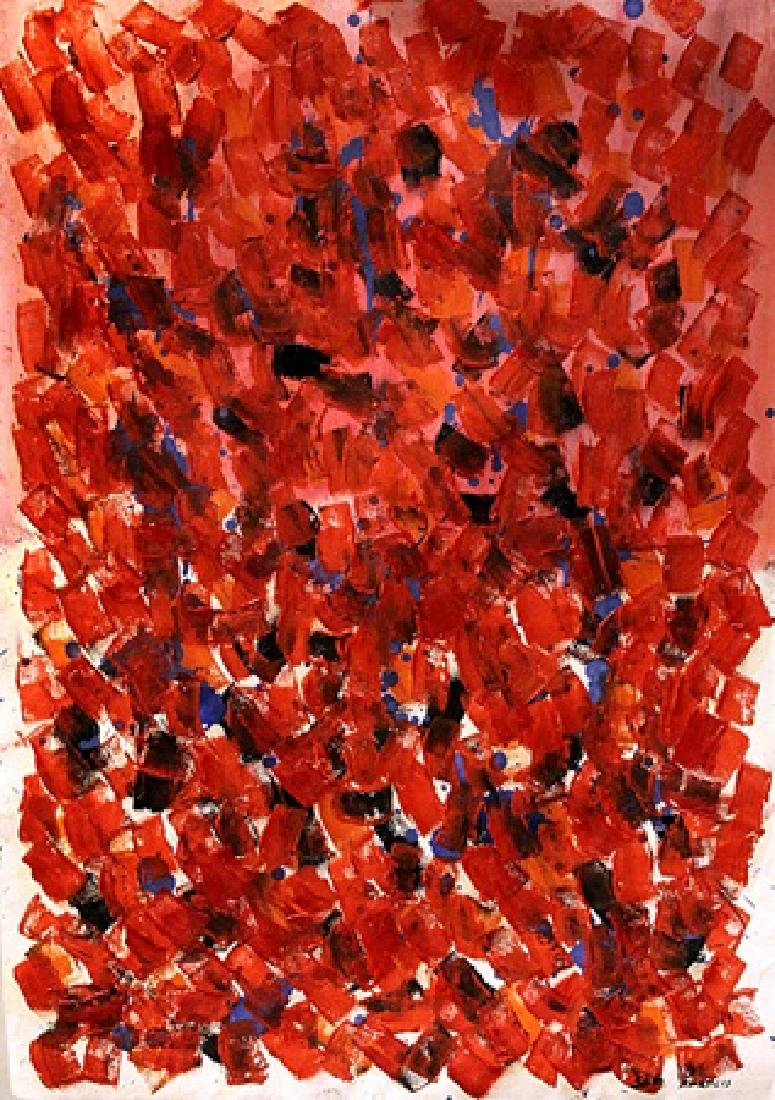 Composition - Sam Francis - Oil On Paper