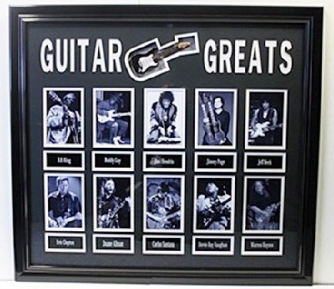 Guitar Greats - Custom Framed Memorabilia
