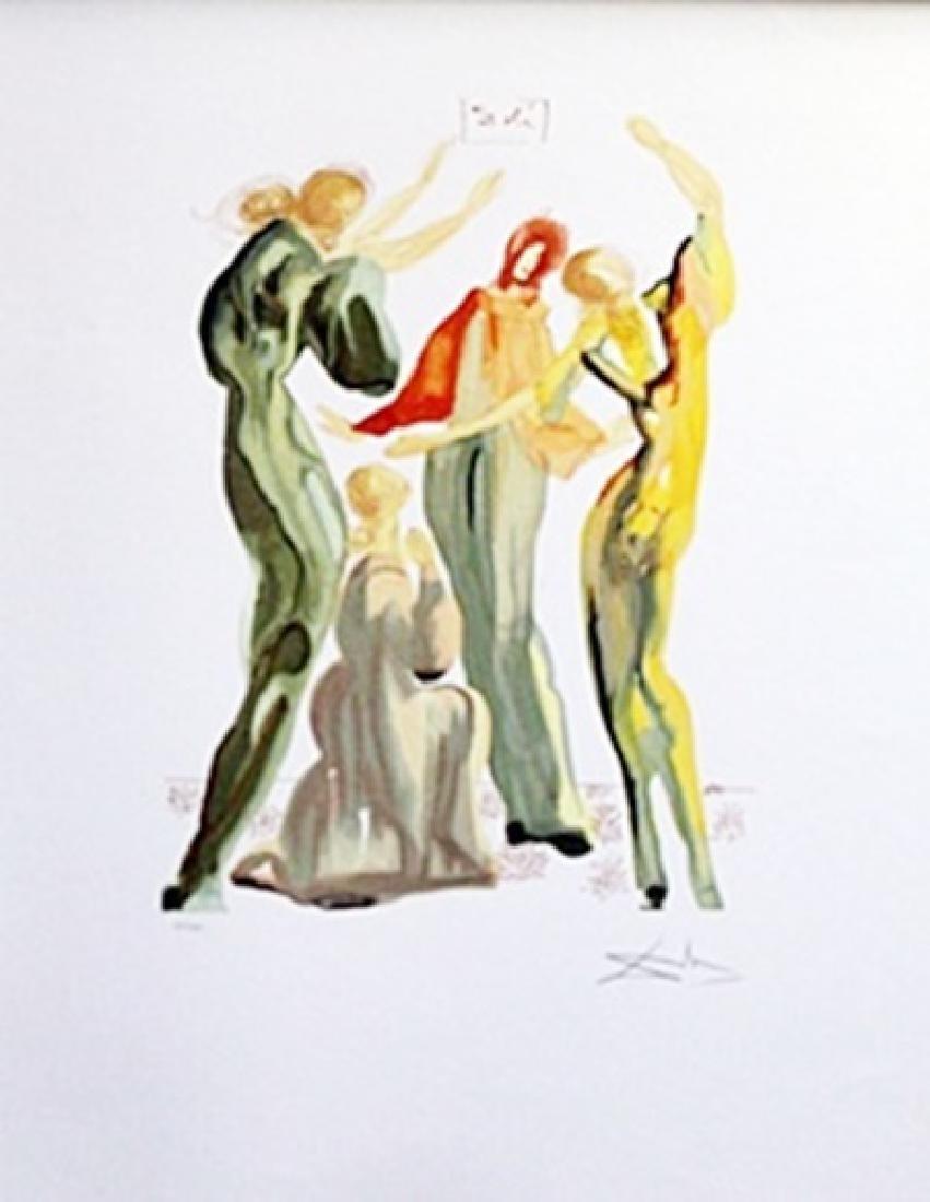 Lithograph - La Danse, The Divine Comedy Series -
