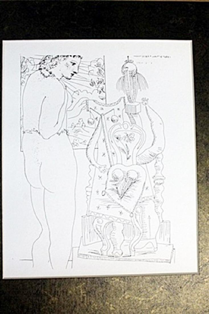 """""""Model and Surrealist Sculptor"""" Lithograph by Pablo"""