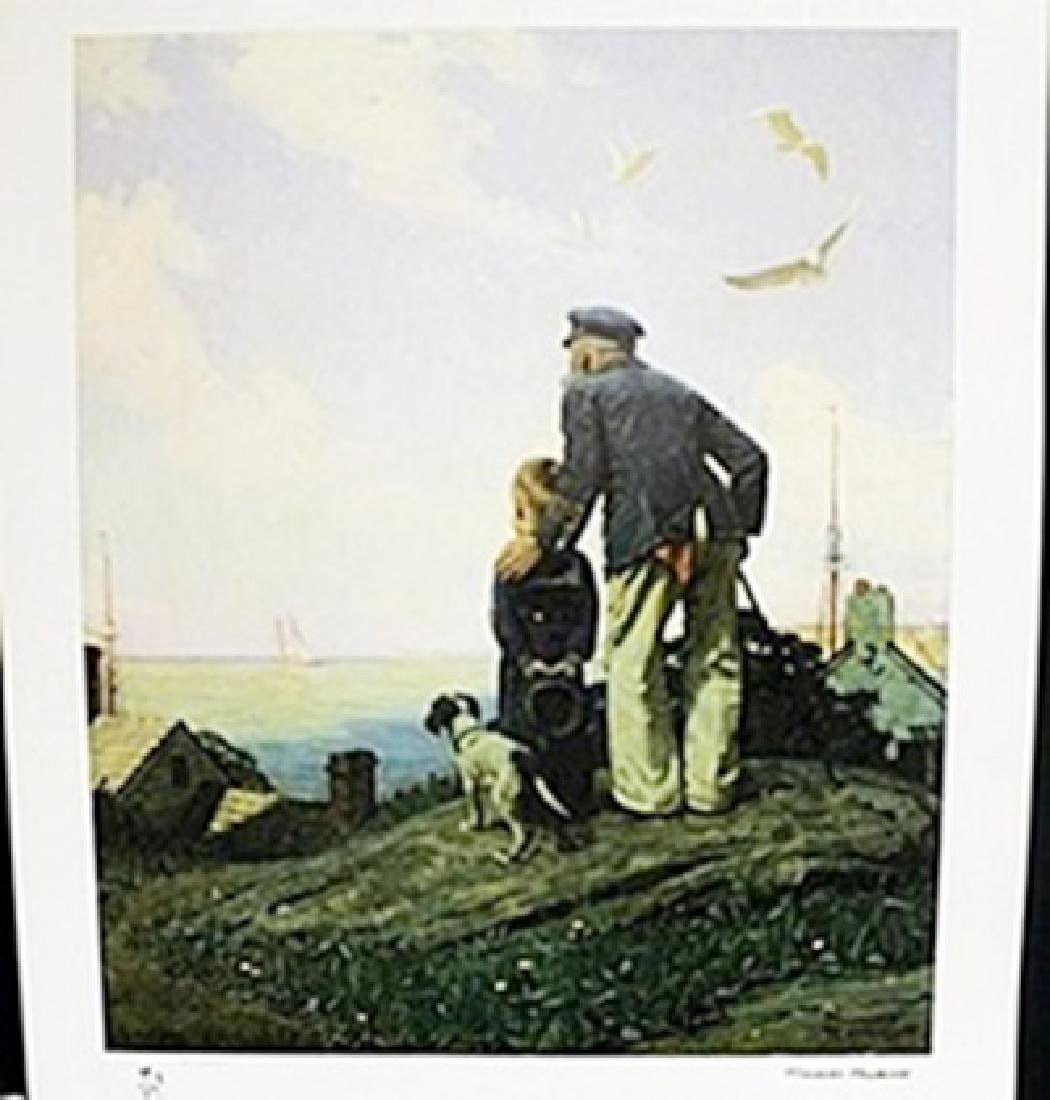 "Lithograph ""Outward Bound""  Norman Rockwell"
