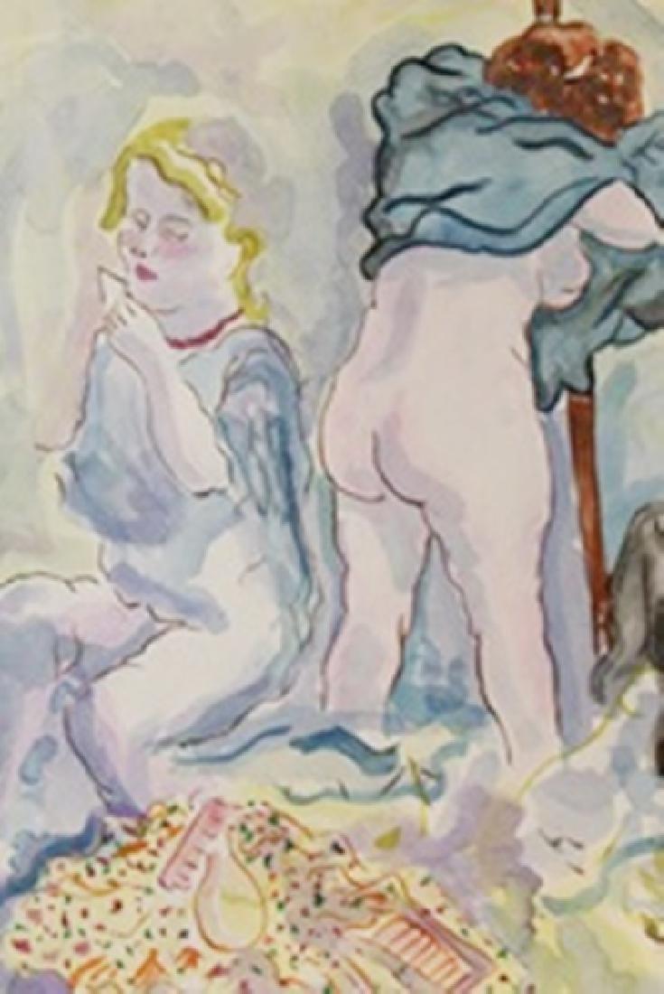 Two Women - George Grosz - Watercolor On Paper - 2