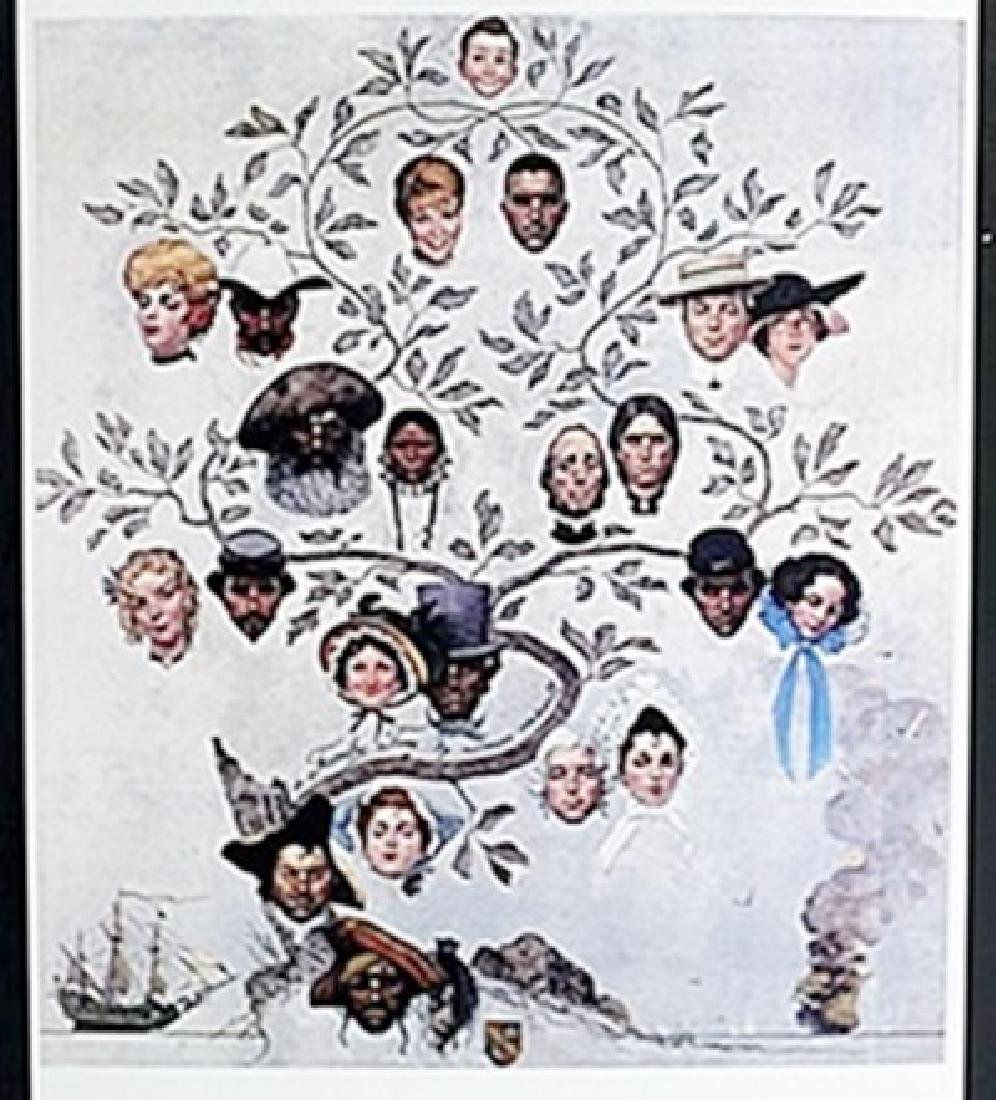 "Lithograph ""A Family Tree""  Norman Rockwell"