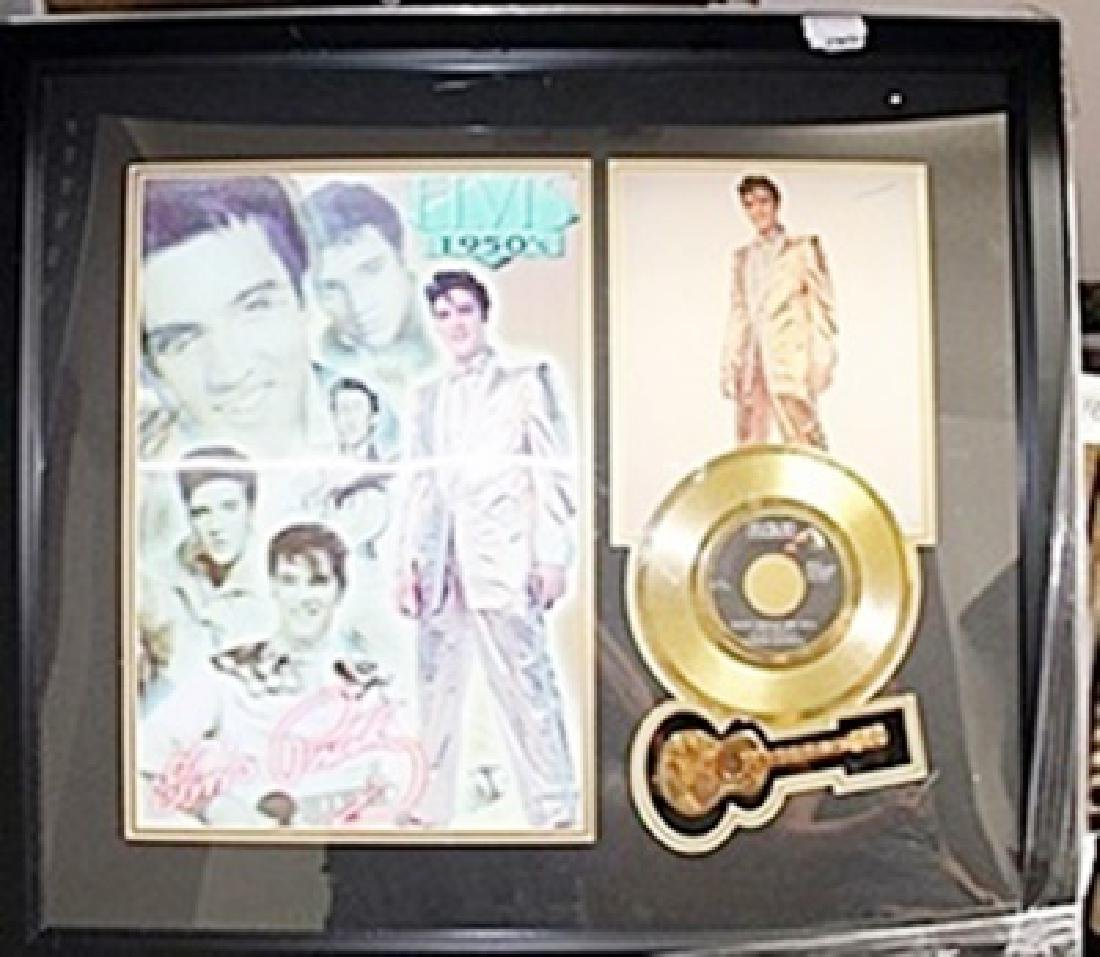Elvis Presley Photo and Gold Album AR5599