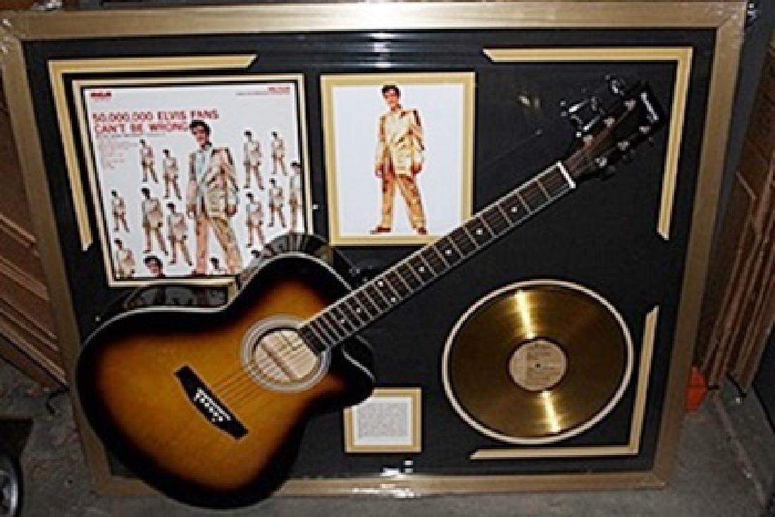 Elvis Signed Guitar & Memorabilia
