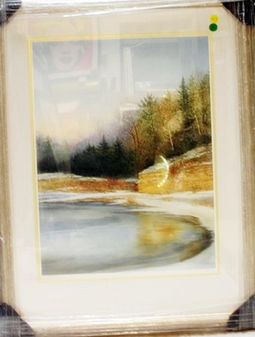 "Framed Handsigned Lithograph ""Cove Point"" Arnold Alaniz"