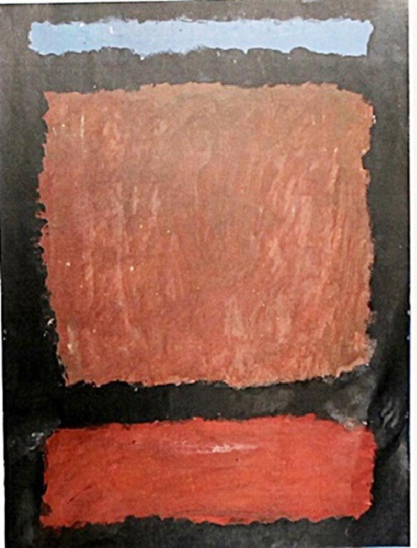 Blue, Brown and Red - Mark Rothko - Oil On Paper