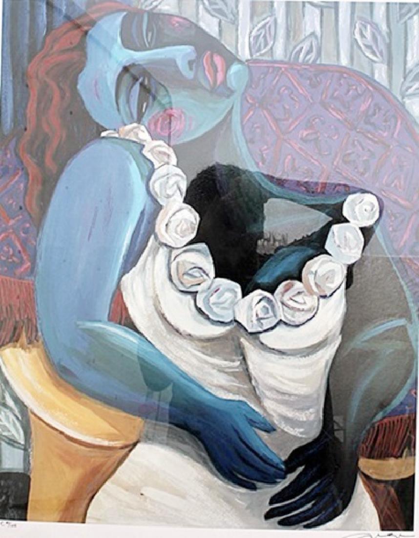 Blue Woman - Lithograph